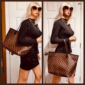 🤎🤎🤎Authentic Louis Vuitton Neverfull MM Damier Ebene